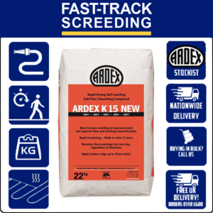 Ardex K15 NEW High Build, Rapid Drying Smoothing Compound, 22kg