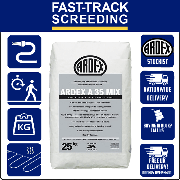 Ardex A35 Mix Ultra Rapid Drying Screed, 25kg