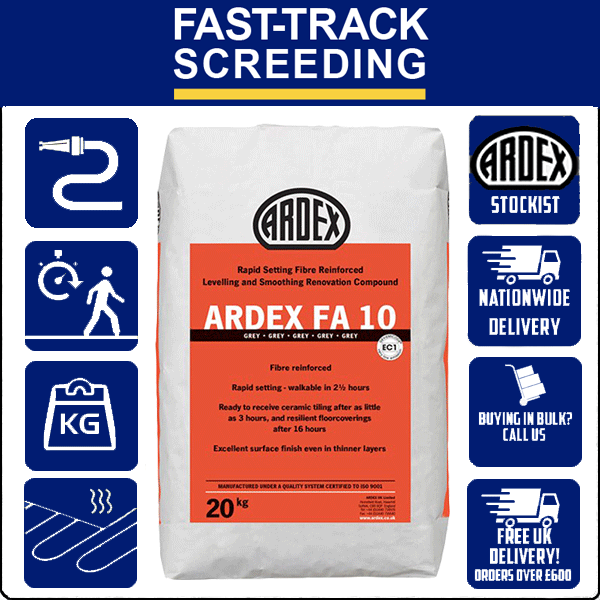 Ardex FA10 Levelling & Smoothing Compound, 20kg